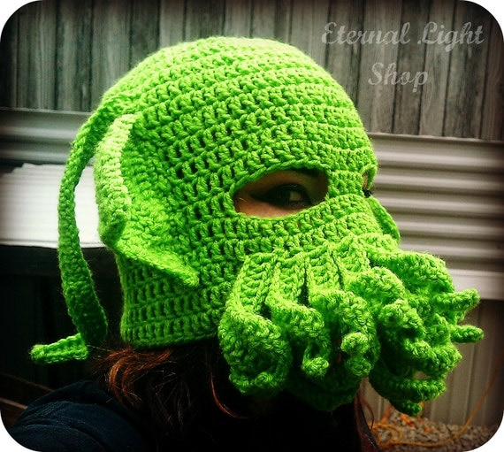 ALL SIZES/COLORS Cthulhu/Octopus Mask