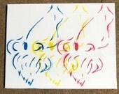 Cuttle Puddle - Original Design - Stencil on Canvas
