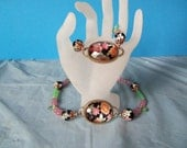 Old Fashioned Choker with Matching Bracelet and Earrings One of a Kind