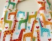 Stay-Dry Drool Bib- Giraffe Love