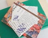 Bird Stationery Set Pinwheel Envelopes Upcycled - Pack of 6