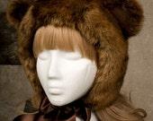 Bear Hood - Brown