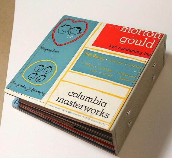 Handmade Upcycled Album Cover CD/ DVD Holder Book