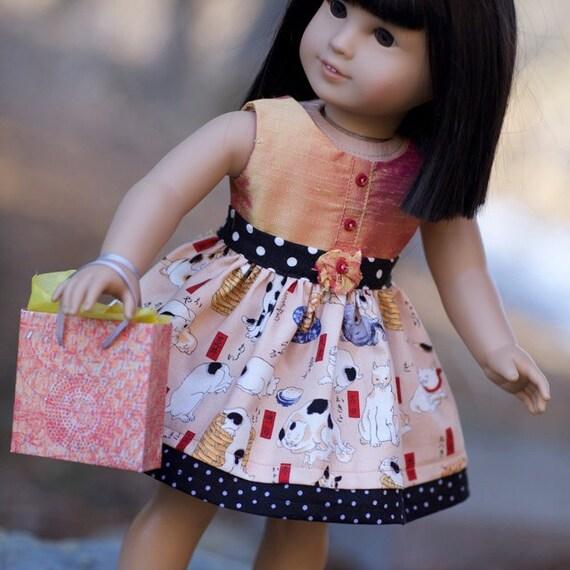 Neko Party Dress for 18 inch doll