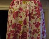 Pink vintage rose waist apron