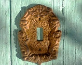 Decorative rustic switch plates shabby chic home decor wrought iron switch plates brown