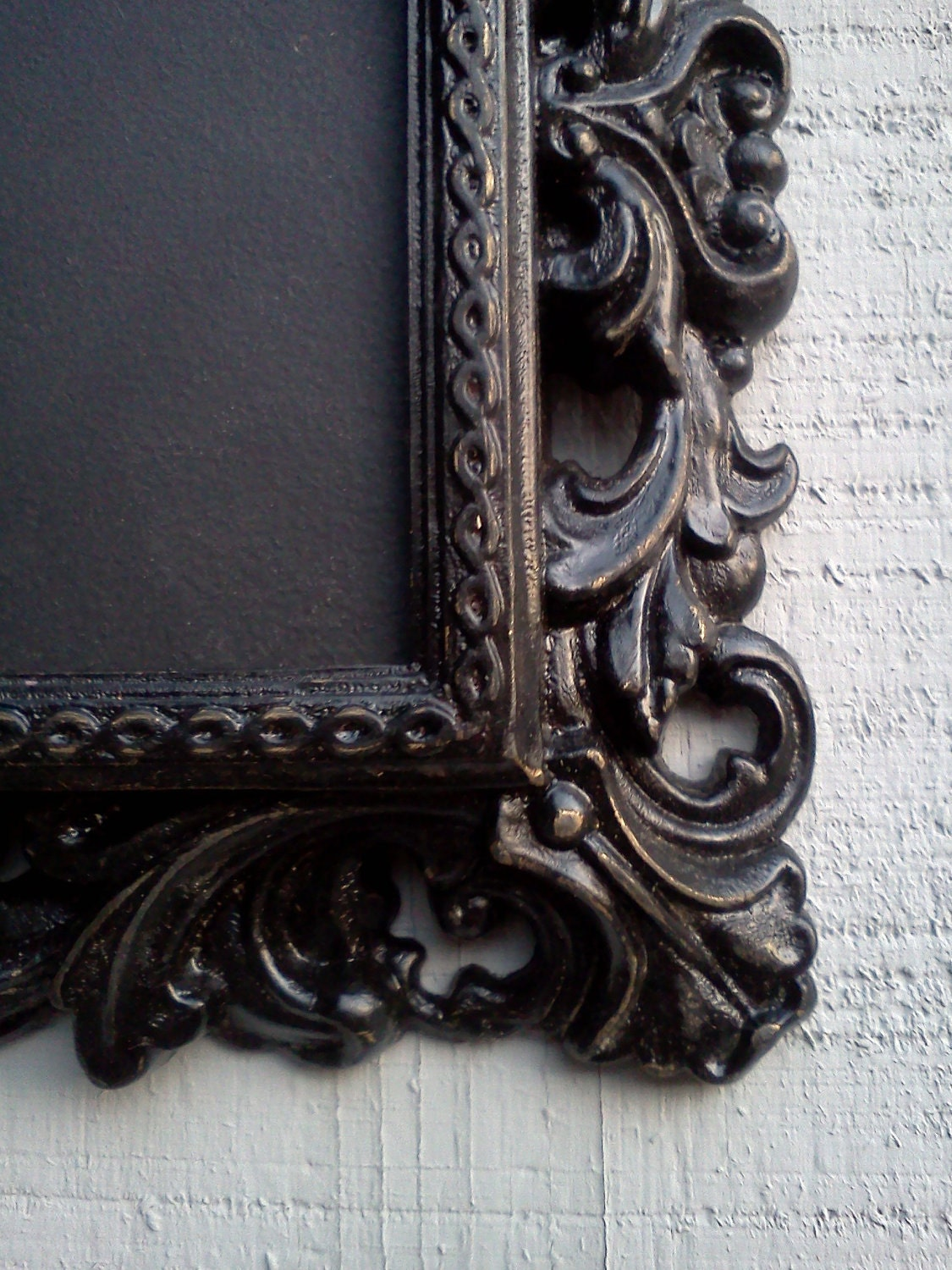 chalkboard ornate victorian gothic frame black gold by article11
