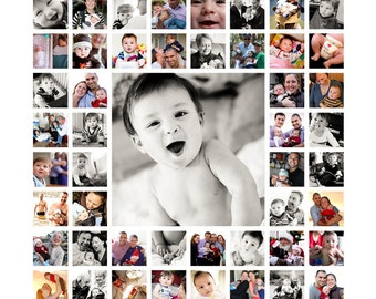 "20""x20"" Photo Collage Design (print-ready flattened JPEG)"