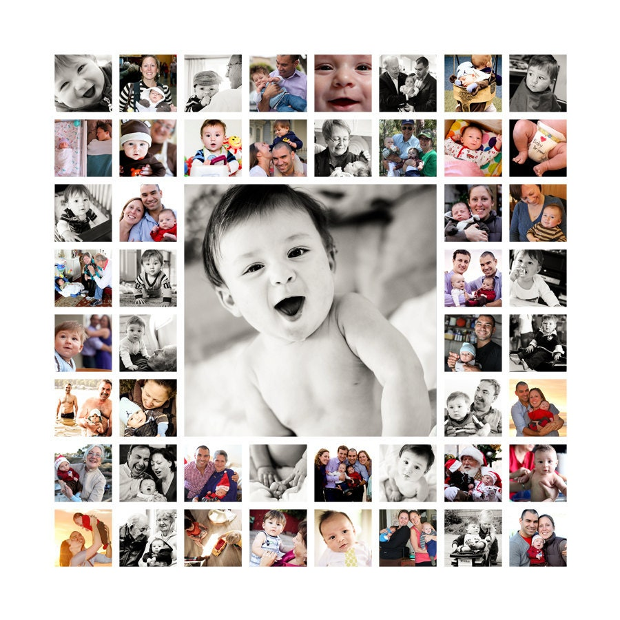 20x20 photo collage design print ready flattened for Ideen fa r fotocollage