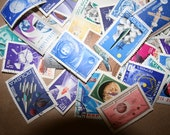 Over 25 Different Space Stamps 60s-Modern
