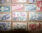 Vintage 60s Space Stamps