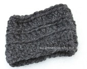 Toddler child crocheted cowl speckled charcoal wool acrylic blend winter accessory