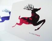 Deer Friend Christmas card