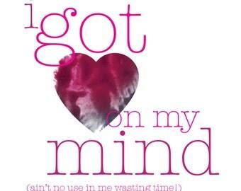 Love on my mind card