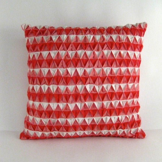Red Gingham Smocked Pillow