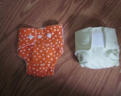 Two Made to Order Cloth Doll Diapers