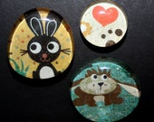 Set of Cute Bunny Magnets