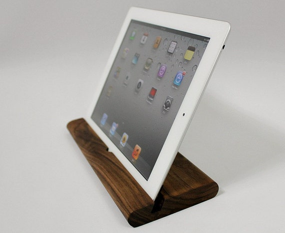 iPad stand - Walnut wood   (iPodium 1 )