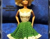 Barbie Hand Crochet Fashion Doll 2 PC. Country Summer Dress
