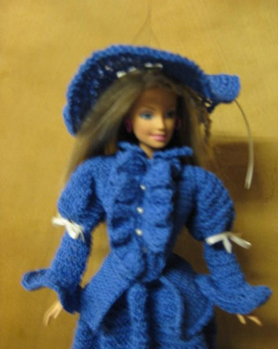 Barbie Fashion Doll Crochet  Victorian-Gibson Girl 3 pc Dress suit