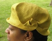 Parasisal Straw Hats- New Hand Blocked-1920's Vintage Inspired Small Cloche- --Custom Order  Only
