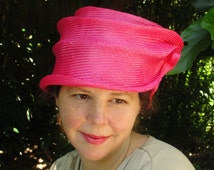 Parasisal Straw Hats-New Hand Blocked-1920's Vintage Inspired Cloche-Turn of the Century- Tiered--Whimsical--