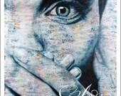 Fine Art Print, Art Print, Print of Woman, Print of Eye, Portrait, Angelina, Angie, Eye, Unique