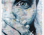 Angie's Eye Fine Art Print Hand Signed by Artist