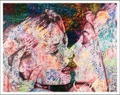 The Kiss Fine Art Print Hand Signed by Artist