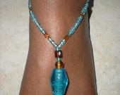 Blue and Brown Anklet/Footlets