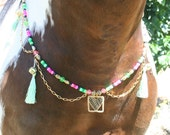 Rhythm Bead Necklace, Mane Clip and 2 bridle/Saddle clips