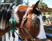 Sold but i am taking orders. Rhythm Bead, Western Mane Clip in Turquoise & Brown For That Special Horse