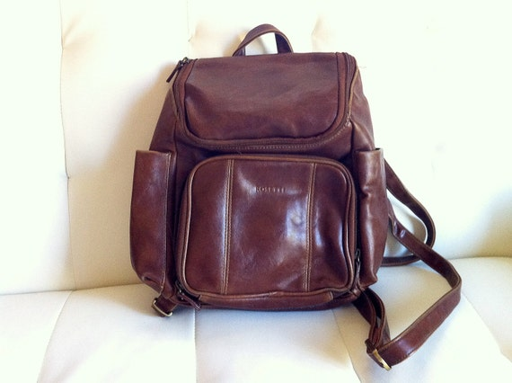 Vintage Rosetti Faux Leather Backpack - Small Rucksack