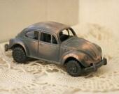 Volkswagen Beetle Car Die Cast Pencil Sharpener - Bronze - Vintage Style