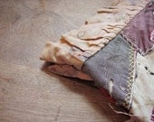 Reserved for Nicola - Vintage Turkey Tracks Quilt - Shabby Ragged Rustic - Great Farmhouse Decor