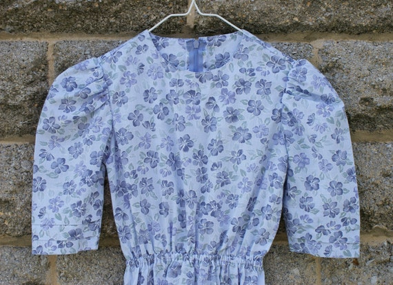 Modest Mennonite - Style Girl's Dress in Lavender Flowered Tropical Breeze Fabric