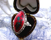 Arts and Crafts Silver Ring Enamel Ruskin Style Sterling 1920s