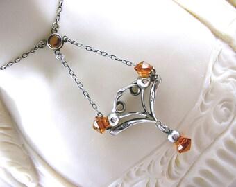Antique Charles Horner Silver Necklace Art Nouveau Scottish Thistle