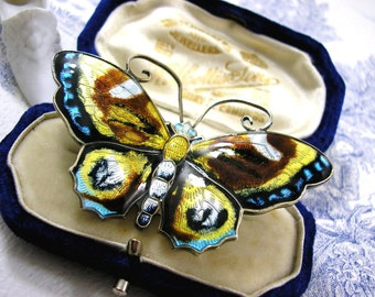 David Andersen Butterfly Brooch Scandinavian Silver Jewelry