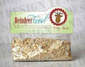 Reindeer Food - Personalized Bag Topper Printable