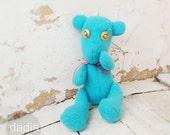 Handmade plush Teddy Bear, kids toy, Light blue