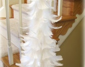 Beautifully Classic White Feather Tree with Shimmery Blue Star Topper