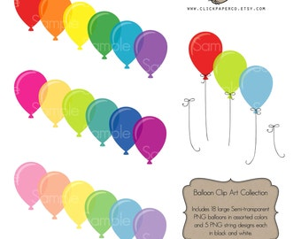 Balloon clip art balloons clipart digital png instand download commercial use For Scrapbooking, Invitations, Cards