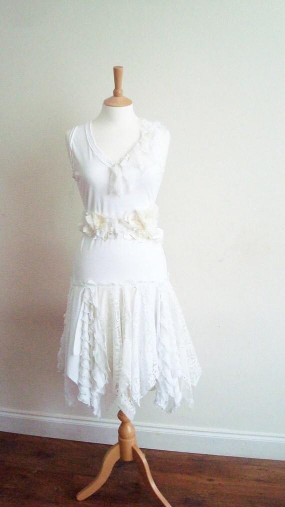 Wedding Dress Upcycled Woman's Clothing White Ivory Cream