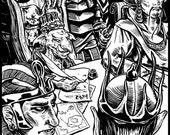Blue Tam the Goblin King - Full Page Illustration