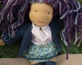 15 inch Waldorf Doll Ready to ship Violet doll, handspun hair, very sweet, organic, natural