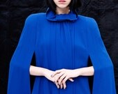 RESERVED-Vintage Royal Blue Wool Cape
