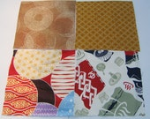 Four japanese fabric Scrap Pack.Pieces.n14