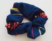 Upcycled Silk Kimonos Fabric. PonyTail Holder.n3