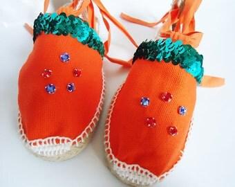 GIRLS Spanish Handmade Alpargatas Designed by Fumichans in Japan
